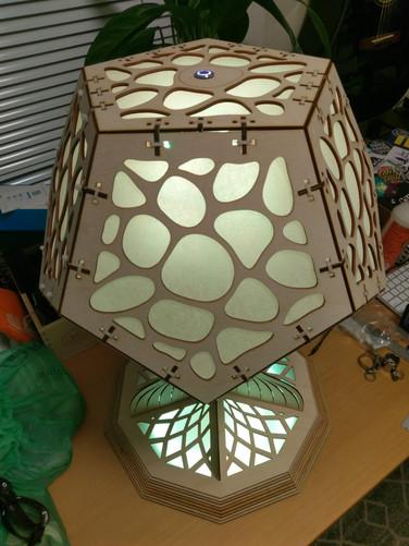 mushroom lamp - above