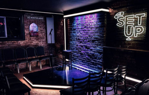 the setup comedy club stage