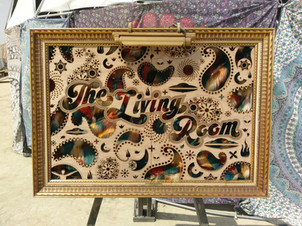 the living room sign