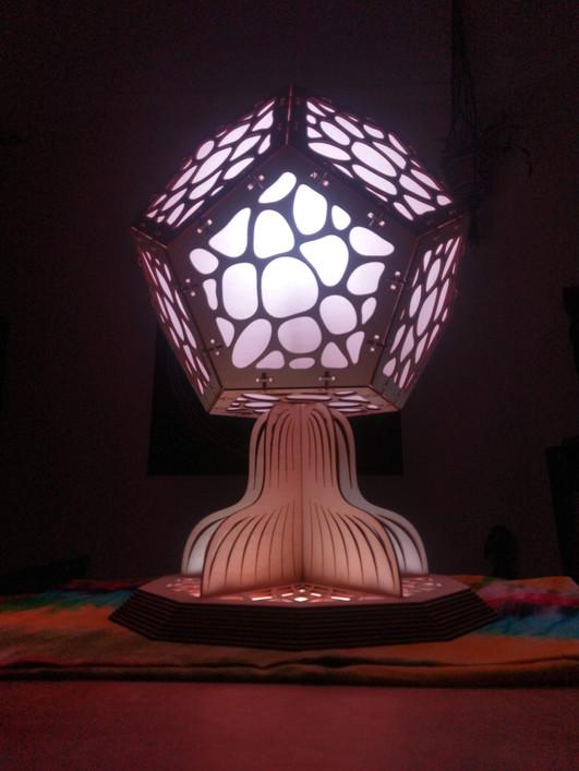 mushroom lamp - side