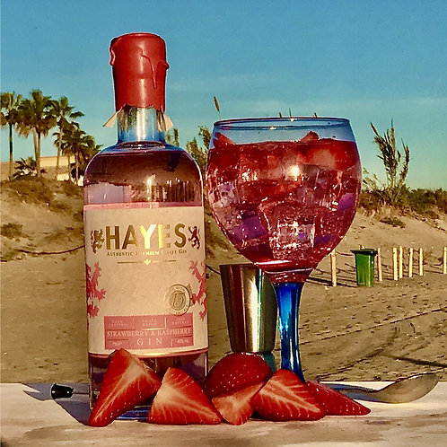 Bottle HAYES PINK Strawberry & Raspberry Gin (40%Vol 70cl)