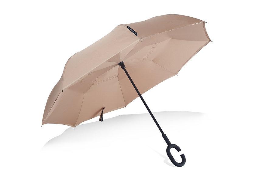 Veron Umbrella | Khaki Gold