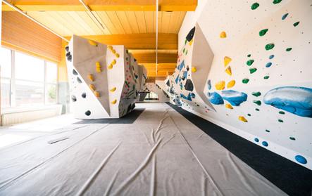 Boulderhalle nach Renovierung