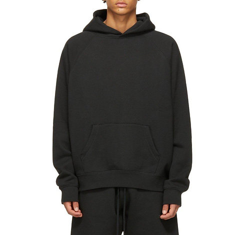 FEAR OF GOD ESSENTIALS PULL-OVER HOODIE (SS21) BLACK