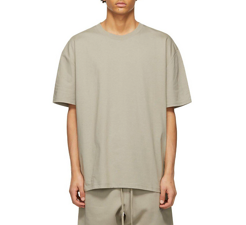 FEAR OF GOD ESSENTIALS 3D SILICON APPLIQUE BOXY T-SHIRT (MOSS) SS21