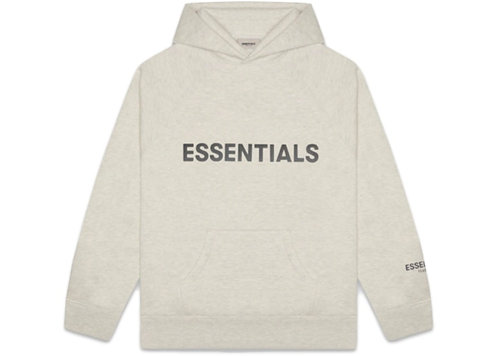 FEAR OF GOD 3D Silicon Applique Pullover Hoodie Oatmeal Heather