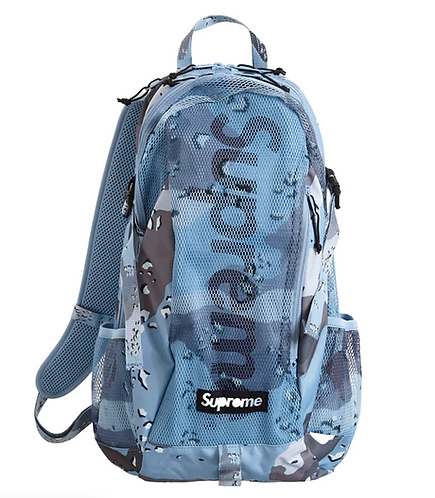 SUPREME Chocolate Chip Camo Backpack BLUE