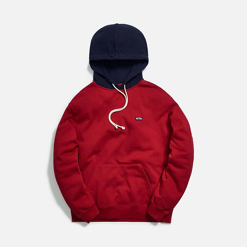 KITH Williams III Contrast Hoodie RED