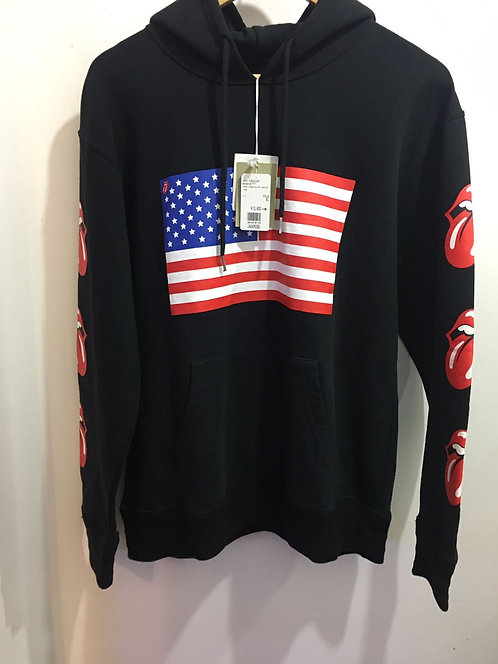 ROLLING STONE Star and Stripes rivet Hoodie