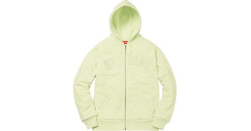 Supreme Arc Logo Zip Up Hooded Sweatshirt