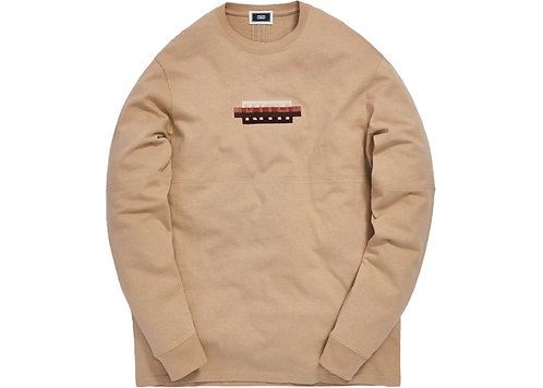 Kith Strike Through Panel L/S Tee Ancient Fossil