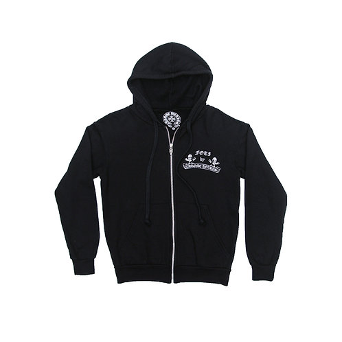 Chrome Hearts Foti Silver Harris Teeter Zip Up Hoodie