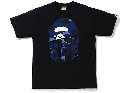 BAPE Color Camo Peek Ape Head T-Shirt Black/Navy