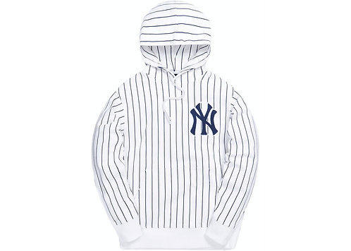Kith For Major League Baseball New York Yankees Striped Hoodie
