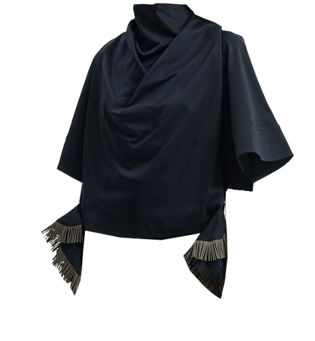 FACETASM Ruffled T-shirt with Face Mask