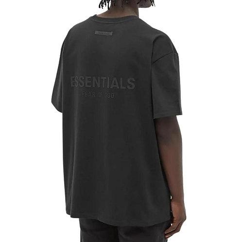 FEAR OF GOD ESSENTIALS T SHIRT BLACK STRETCH LIMO (black)