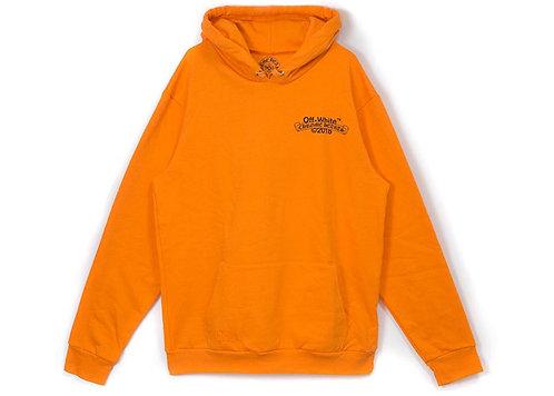 OFF-WHITE X Chrome Hearts 2018 Hoodie Orange/Black