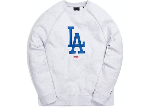 Kith For Major League Baseball Los Angeles Dodgers Crewneck Light Heather