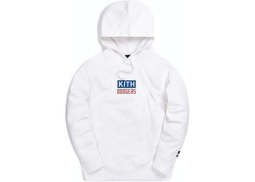 Kith For Major League Baseball Los Angeles Dodgers Logo Script Hoodie