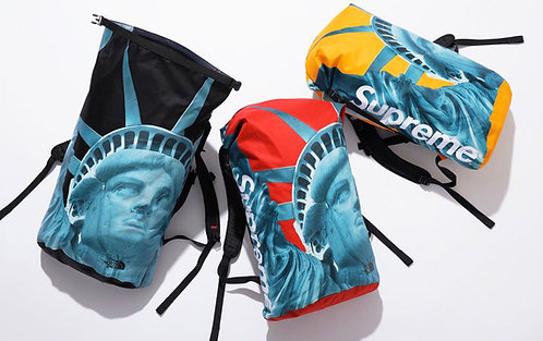 SUPREME X TNF Face Statue of Liberty Backpack