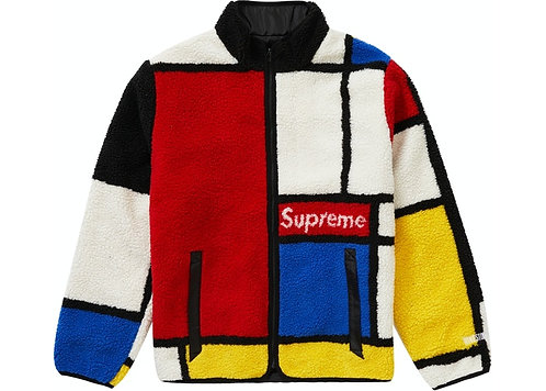 Supreme Reversible Colorblocked Fleece Jacket