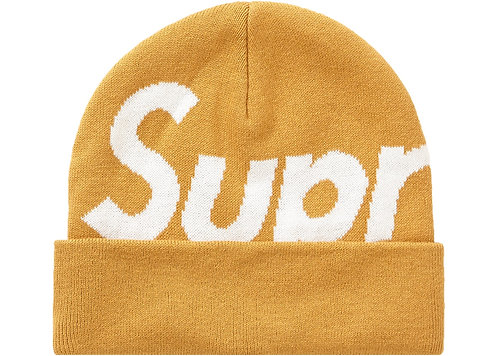 SUPREME Big Logo Beanie FW19 GOLD