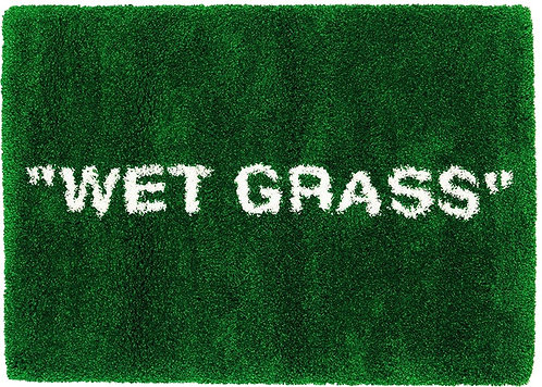 "Virgil Abloh x IKEA MARKERAD ""WET GRASS"" Rug"