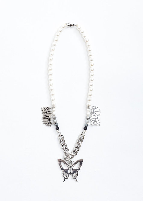 Butterfly Skull necklace
