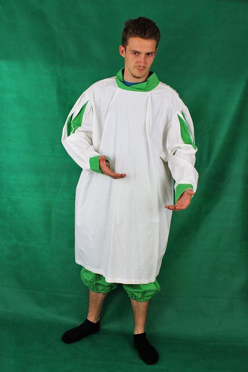 Uniform mit Hose (weiß/grün)