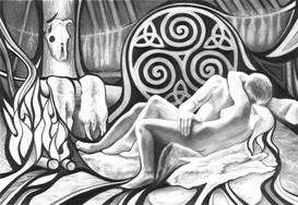 Ancient Hut Dream - Illustration for A Stranger From Afar
