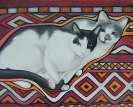 Jackie O'Kitty and Lana Del Meow on Tapestry