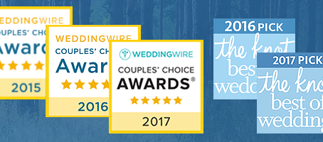 """We won The Knot & WeddingWire's """"Best of Weddings"""" & """"Couples Choice&quot"""