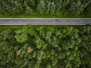 aerial-and-symmetric-view-of-a-road-in-t