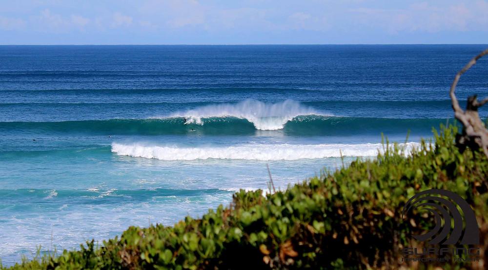line up surf shot