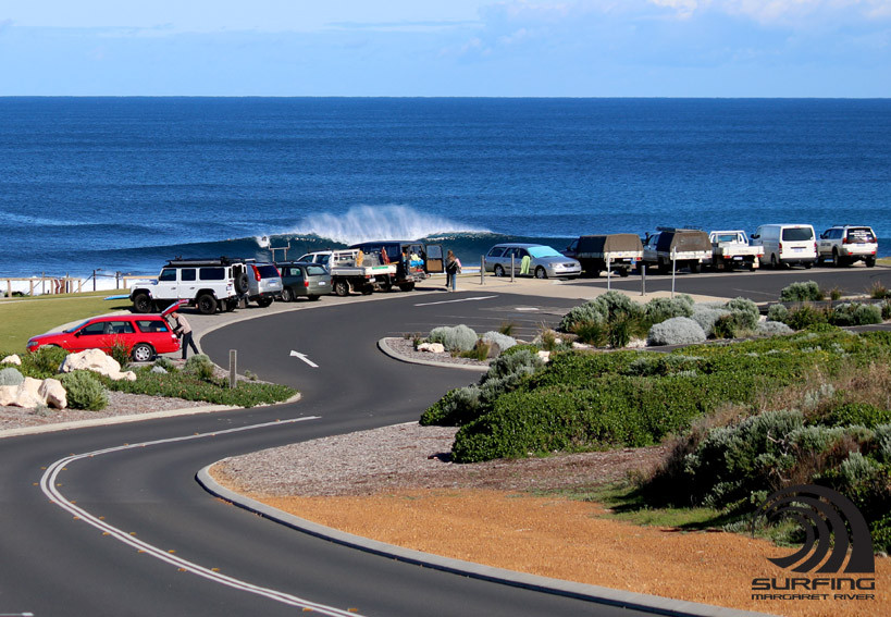 car park at surfers point