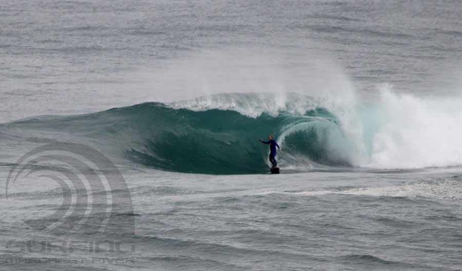 surfing margaret river, the box.