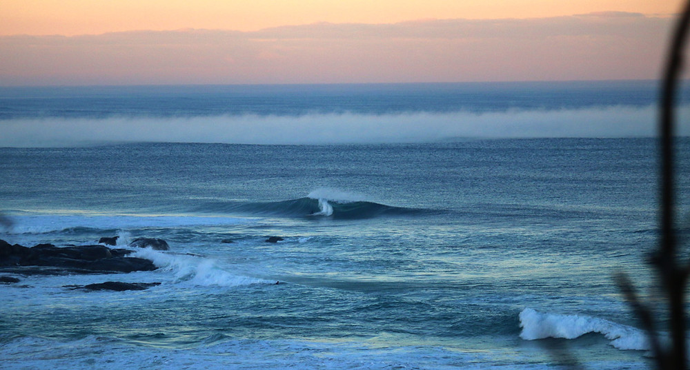 fog bank in the surf margaret river