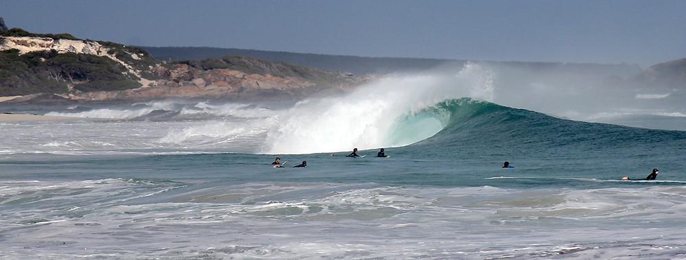 beach break, good sized swell