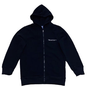 Black Hoodie with Zip (G9–12)