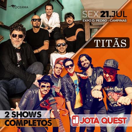 Amantes do rock vão adorar! Titãs e Jota Quest fazem show em Campinas dia 21