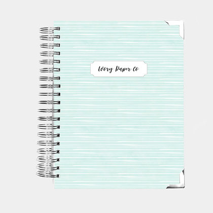 Pale Blue Stripes | Ultimate Weekly Planner | 12 Month