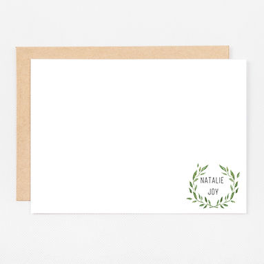 Personalized Stationery Notecards | Wreath Set