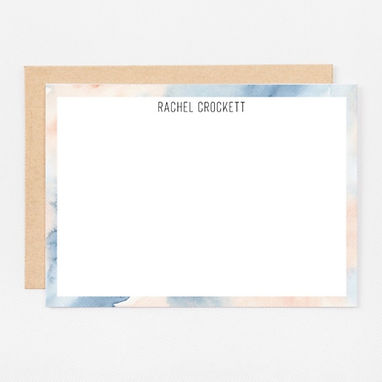 Personalized Stationery Notecards | Abstract Watercolor Set