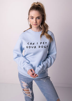 Can I Pet Your Dog - Comfy Sweatshirt - By Whole Kindness