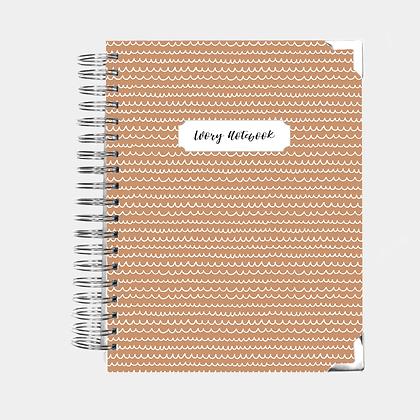 Notebook   Tan Scribbles