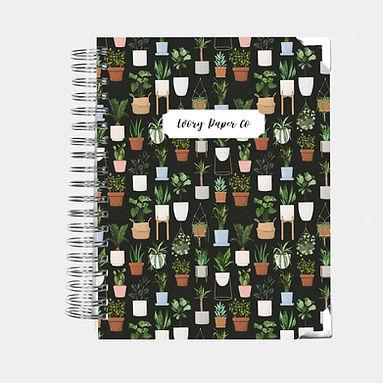 Social Planner - Dark Plants - 12 Months