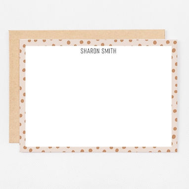 Personalized Stationery Notecards | Spotted Tan Set