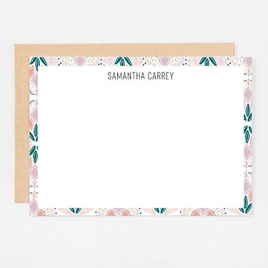 Personalized Stationery Notecards   Colorful Geometric Set