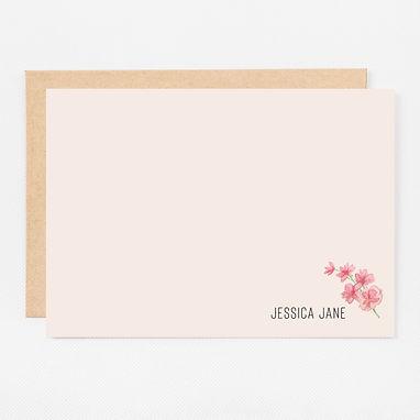 Personalized Stationery Notecards | Blushing Foliage Set