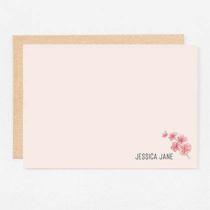 Personalized Stationery Notecards | Blushing Foliage Set